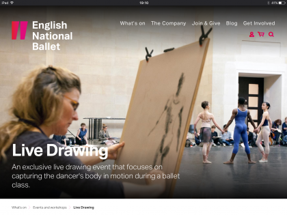 English National Ballet Live Drawing event on tour